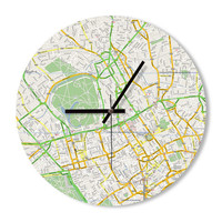 Wall Clock maps colorful clock home decoration wall art clock bedroom living room office clock gift ideas for him for her unique gift