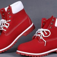 Premium men's Red Timberland Boots!!