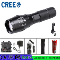 z15 LED Flashlight Cree L2 Flashlight Torch Lamp powerful Tactical Emergency Defensive torch battery usb car charger cover box