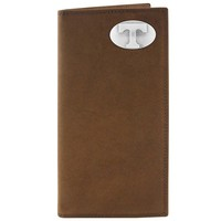 Zep-Pro Tennessee Volunteers Concho Crazy Horse Leather Secretary Wallet (Brown)