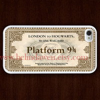 iPhone 4 Case, iphone 4s case, hogwarts Express Train Ticket iphone 4 case, harry potter iphone 4 case