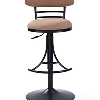 Brown & Black Jasper Swivel Counter Stool