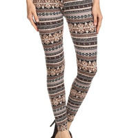 Wallpaper Bohemian Print Leggings