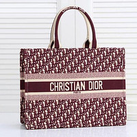 Dior Fashion Leather Handbag Satchel Shoulder Bag