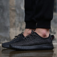 """""""Adidas"""" Women Yeezy Boost Sneakers Running Sports Shoes Full Black"""