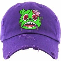 Zombie Baws Purple Dad Hat
