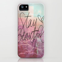 Stay Beautiful iPhone & iPod Case by Pink Berry Pattern