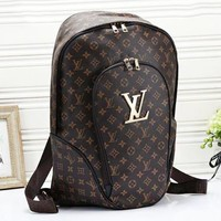 LV Louis Vuitton New casual wild print plaid large capacity backpack travel backpack