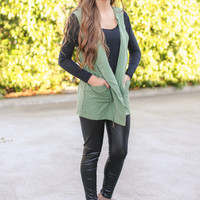 Swoon Over Vest - Olive