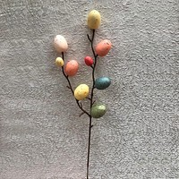 New Creative Easter Egg Tree Decor Creative Branch With Painting Eggs Easter Egg Decoration Easter Supplies Party Suplies