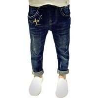 Kids jeans for boys spring autumn new Casual Boys jeans Denim ripped pants teenagers children trousers