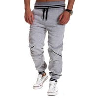 Plus Size Fashion Mens Joggers Pants 2018 New Elastic Waist Cotton Sweatpants Male Casual Loose Long Trousers Pantalon Homme