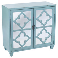 Trisha 2-Door Cabinet, Sky Blue, Cabinets & Hutches