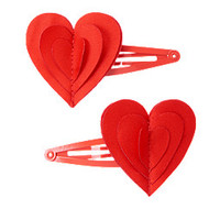 Heart Clips Two-Pack