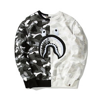 BAPE Cross Camo Snow Shark Sweatshirt