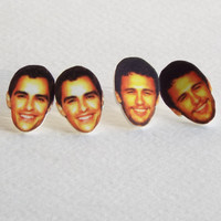 Custom Face Stud Earrings Personalized Jewelry Novelty Gift w/ Gift Box