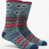 On The Byas Amarillo Weekend Striped Crew Socks - Mens Socks - Blue - One