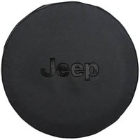 """All Things Jeep - Mopar Black Tire Cover with Jeep Logo in Black, 32"""" x 10"""""""