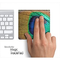 Peacock Feather Skin for the Apple Magic Trackpad