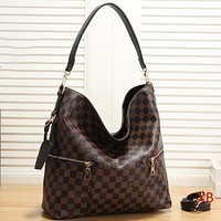 LV Louis Vuitton New fashion tartan monogram print leather shoulder bag handbag crossbody bag