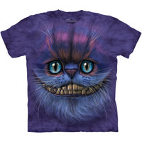 BIG FACE CHESHIRE CAT T-Shirt The Mountain Alice In Wonderland Tee S-3XL NEW
