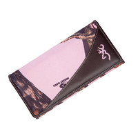 Browning Women's Pink Camo Continental Wallet