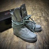 Newest Nike SF Air Force 1 High AF1 Beige Functional Boots Diatom Blue AA1128-203
