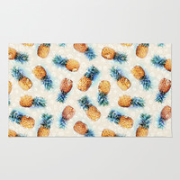 Pineapples + Crystals  Rug by Micklyn