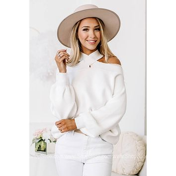 Welcome To The Party Cold Shoulder Sweater Top