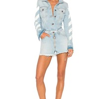 Washed Denim Jumpsuit by OFF WHITE