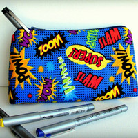 FABULOUS - Comic Typography - Large Pouch or Pencil Case