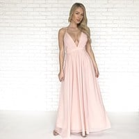 Angelic Pastel Pink Maxi Dress