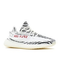 "Adidas Mens Yeezy Boost 350 V2 ""Zebra"" White/Black-Red Fabric Size 5"