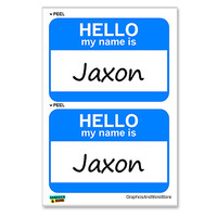 Jaxon Hello My Name Is - Sheet of 2 Stickers