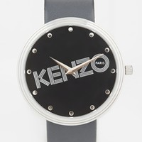 Kenzo Grey IT Print Watch