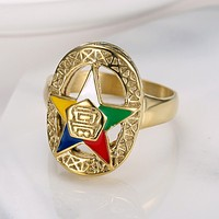 Order of Eastern Star OES Ring (Silver- Gold)