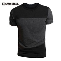 Men Slim Fit Crew Neck T-Shirt For Men Casual T shirts Men's Anime Hip Hop Short Shirt