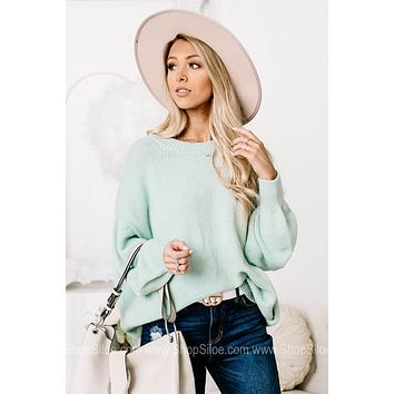 Bright Eyed Soft Knit Sweater Top