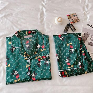 Gucci GG women's new short-sleeved trousers sexy home service suit two-piece suit