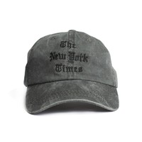 The New York Times Embroidery washed Logo Cap