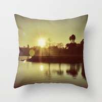 Goodbye Yesterday Hello Today (warm) Throw Pillow by RichCaspian