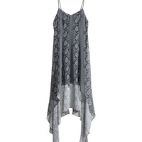 H&M - Draped Dress - Gray - Ladies