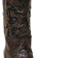 Corral Women's Chocolate Brown w/ Black Inlays Cowgirl Boots