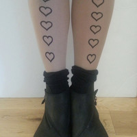 tattoo tights love hearts