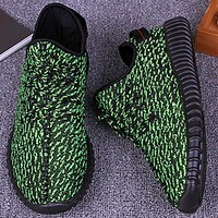 Adidas Women Yeezy Boost Sneakers Running Sports Shoes Green