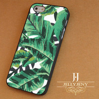 Tropical Glam Banana Leaf Pattern iPhone 4 5 5c 6 Plus Case | Samsung Galaxy S3 S4 S5 Note 3 4 Case | iPod 4 5 Case | HtC One M7 M8