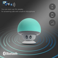 GETIHU Wireless Mini Bluetooth Speaker Portable Mushroom Waterproof Stereo Bluetooth Speaker for Mobile Phone iPhone Computer
