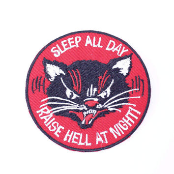 Sleep and Raise Hell Iron-On Patch