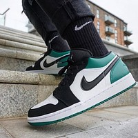 AIR JORDAN 1 LOW 'MYSTIC GREEN' low-top basketball shoes