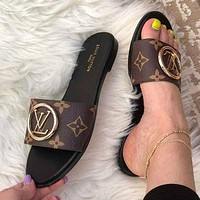 LV Louis Vuitton Fashion casual slippers Shoes
